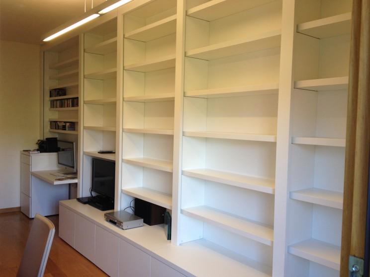 librerie mobili soggiorno - Cucine su misura a Cremona, Armadi a ...